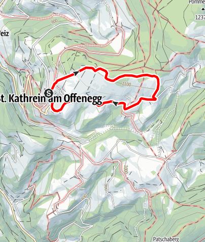Karte / Vogelbeer-Panoramaweg, St. Kathrein/O.