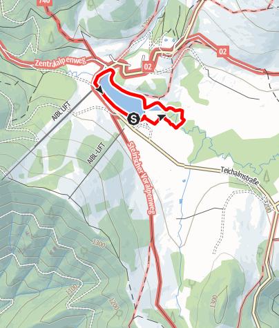 Karte / Teichalm Moorlehrpfad