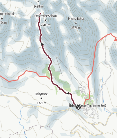 Map / Hikes in valleys - To Wahlbergovo pleso through Furkotská dolina