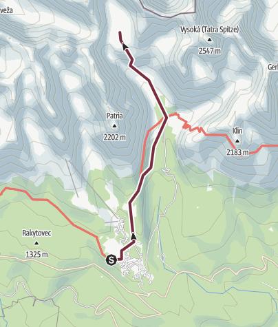 Mapa / Túry po dolinách - K Veľkému Hincovmu plesu