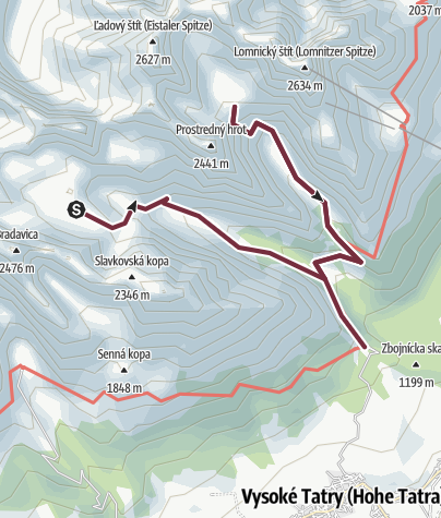 Map / Hikes in valleys - To visit Téry´s or Zbojnícka chalet