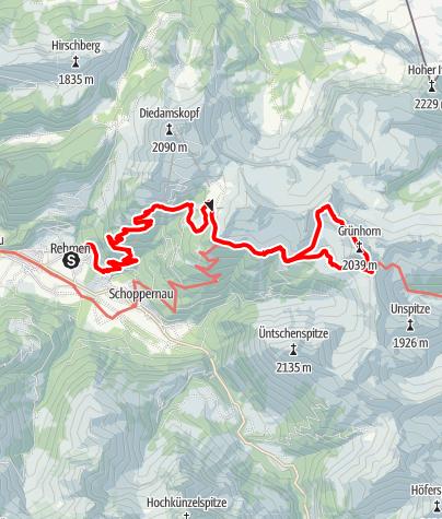 Karte / 3. Tag - Von Au auf das Grünhorn