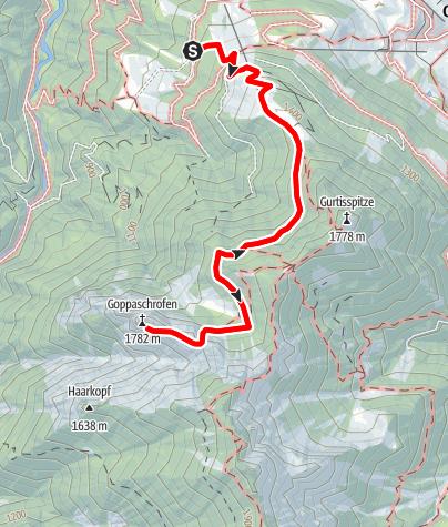 Karte / Goppaschrofa