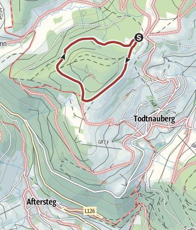 """Karte / Wald- und Sinnespfad """"Horneradsch"""":"""