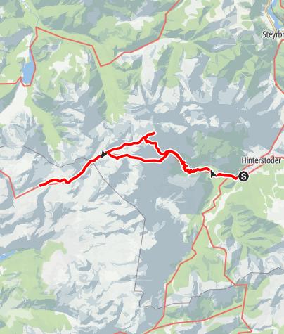 Karte / Großer Priel und totes Gebirge