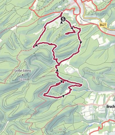 Karte / Dahn Napoleonsfelsen 20120630