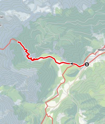 Karte / Großer Priel - Tag 1
