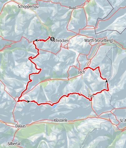 Karte / Lechquellenrunde