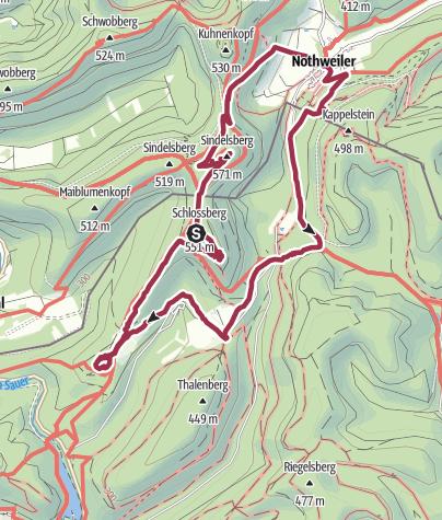Karte / Nothweiler 4 Burgen Tour 20120713 13km
