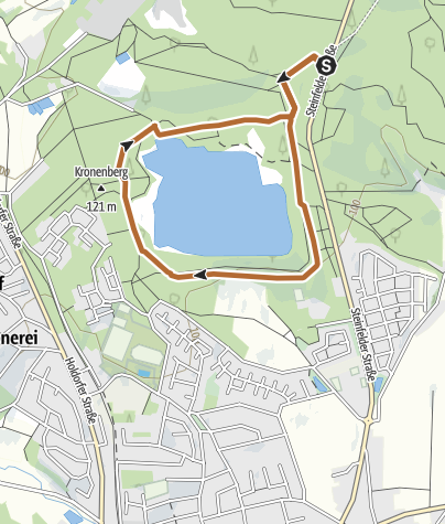 Karte / Nordic Walking Park Dammer Berge - Route 5 Bergseeroute