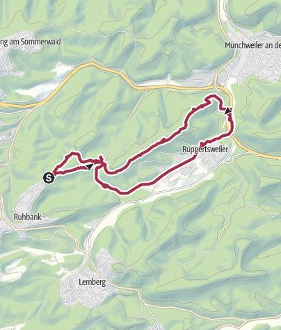 Karte / Beckenhof-Maiblumenfelsen_Ruppersweiler-Starkenbrunnen
