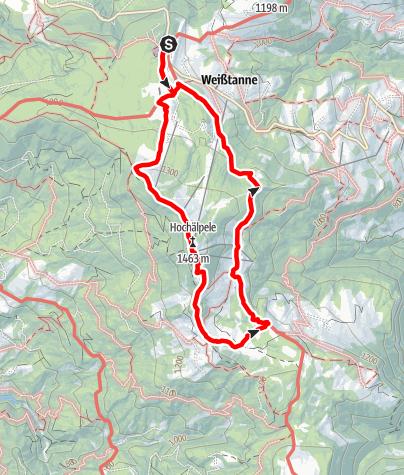 Karte / Schwarzenberg   Geocaching am Bödele - die etwas andere Schatzsuche