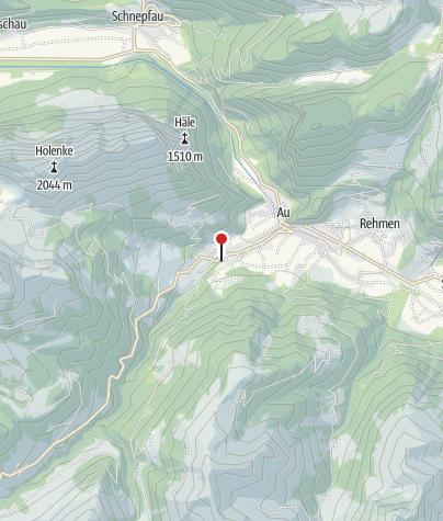 Kaart / Hütte Au Sektion Überlingen