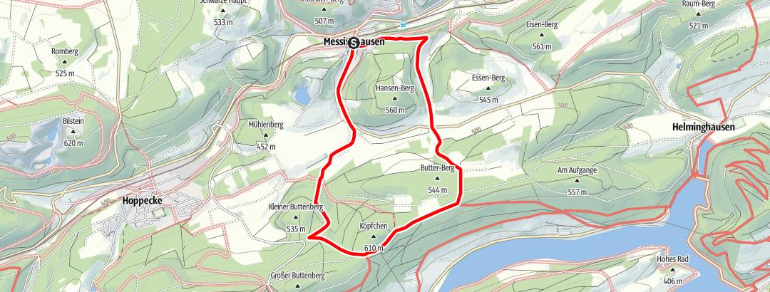Kaart / Brilon-Messinghausen (M5)