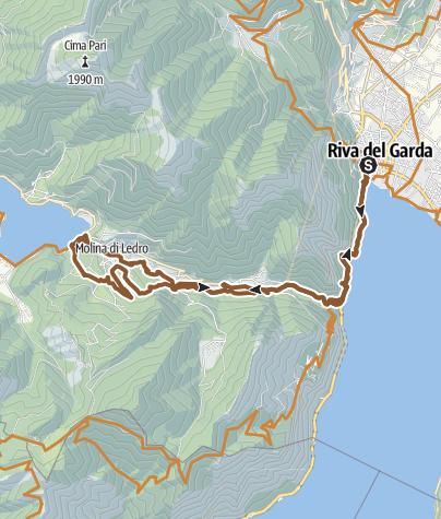 Map / Von Riva del Garda bis zum Lago Ledro