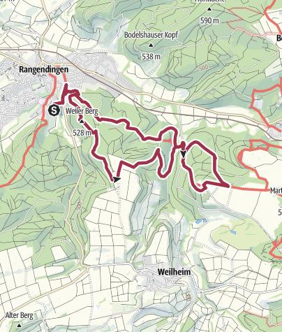 Karte / Rundweg Weiler Berg