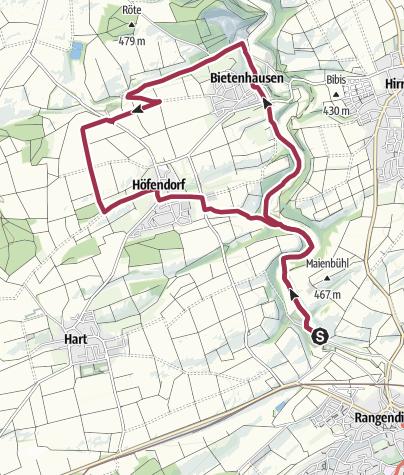 Karte / Rundweg Starzeltal