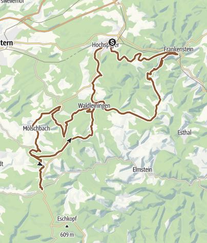 Karte / Mountainbikepark Pfälzerwald - Tour 4 - Hochspeyer - DIMB Premium Bike Trail Tour