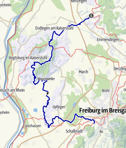 Karte / Weinwanderweg Kaiserstuhl