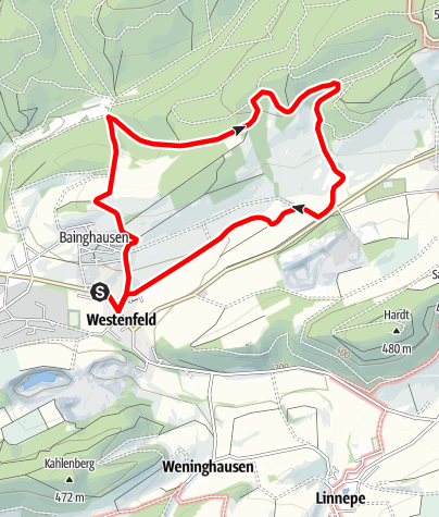 Karte / Rundwanderweg Westenfeld