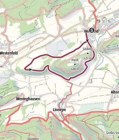 Karte / Rundwanderweg Hellefeld