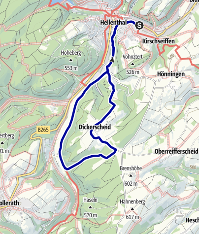 Karte / Wanderweg Nr.8. Eifelverein OG Hellenthal