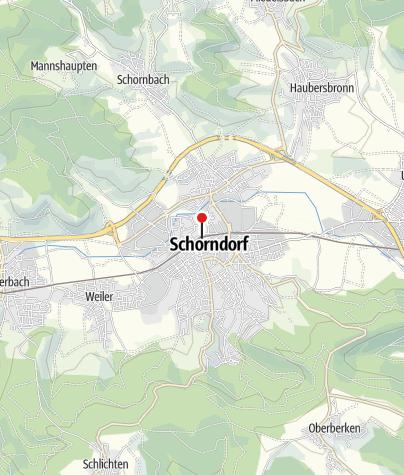 Karte / Schwäbische Waldbahn