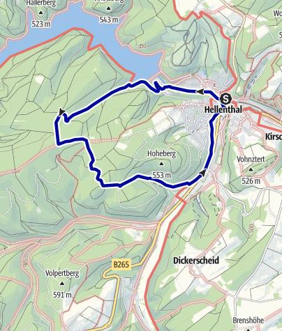 Karte / Wanderweg Nr. 10 Eifelverein OG Hellenthal