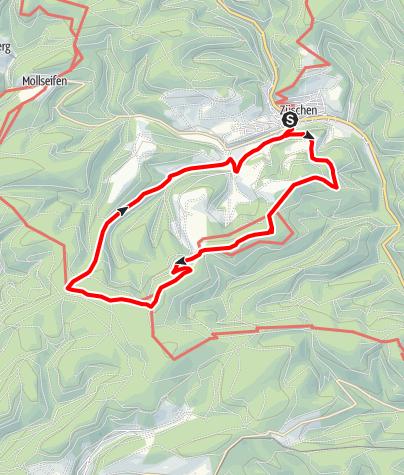 Karte / Waldtour, Start und Ziel Winterberg-Züschen