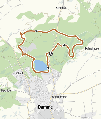 Map / Nordic Walking Park Dammer Berge - Route 4 Dersaroute