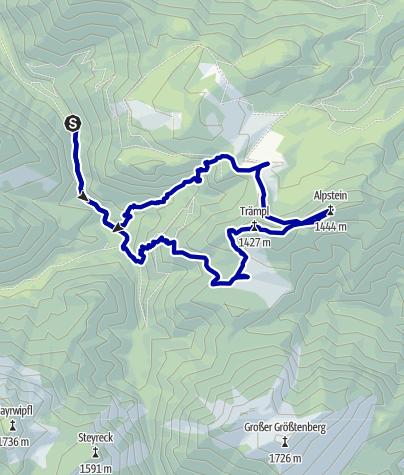 Karte / Schaumbergalm und Ebenforstalm ab Molln (Bodinggraben), Rundwanderung