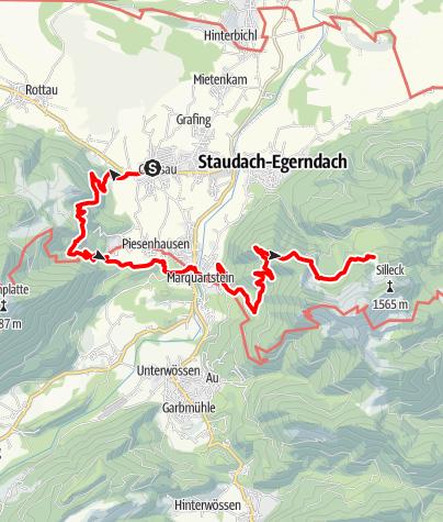 Karte / SalzAlpenSteig Etappe 2: Grassau - Brachtalm