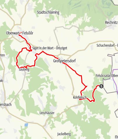Karte / Südburgenland Eisenberg - Csaterberg - Oberwart