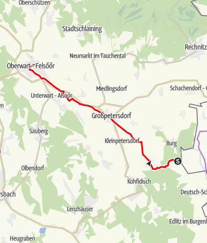 Karte / Eisenberg - Oberwart Diretissima