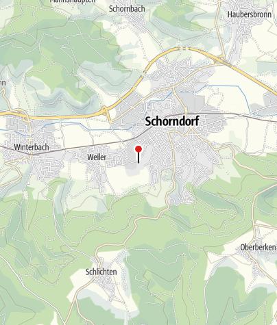 Karte / Wohnmobilstellplatz Schorndorf