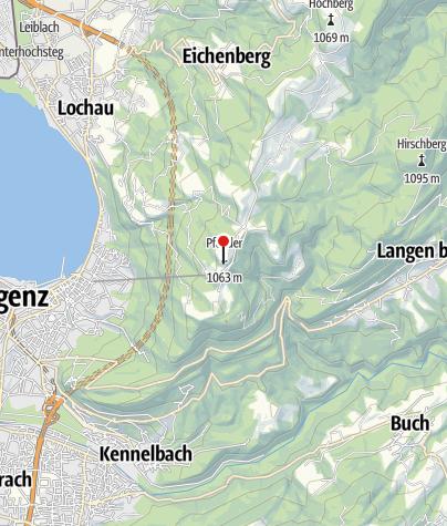 Karte / Gasthaus Pfänderspitzhütte