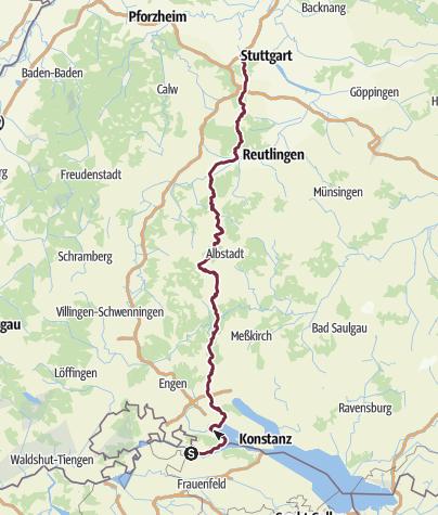 Map / Stuttgart-Stein-am-Rhein