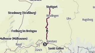 Karte / Stuttgart-Stein-am-Rhein