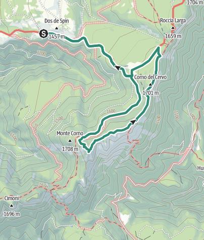 Cartina / Anello con salita al Corno di Tres