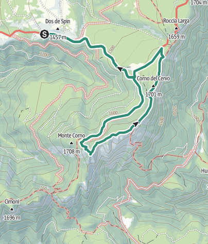 Karte / Runde um das Treser Horn