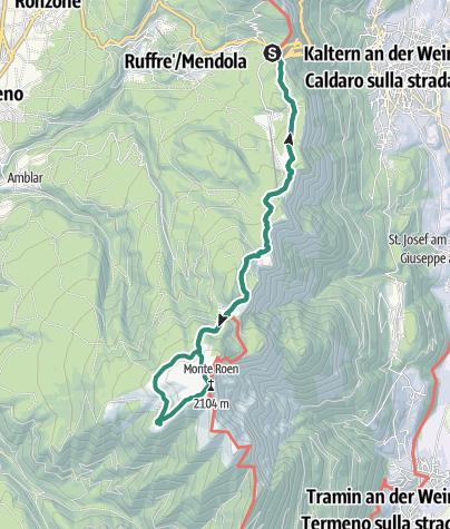 Cartina / Dal Passo Mendola alla Cima del Monte Roen attraverso Malga Smarano