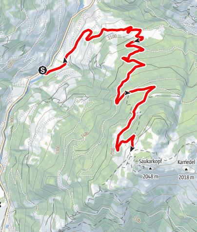 Karte / Großarl: Saukaralm
