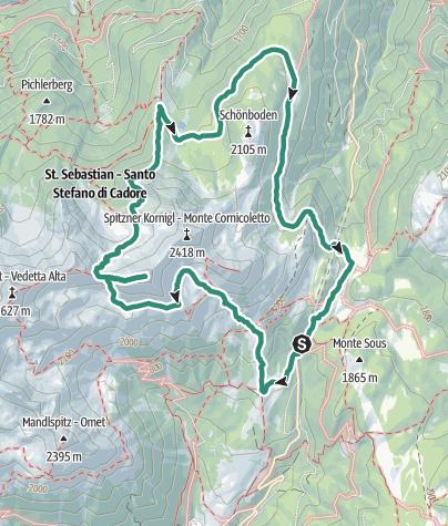 Karte / Lange Rundwanderung an der Schöngrub im Herzen der Magdalener Berge