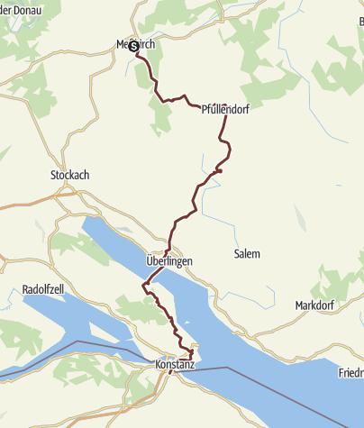 Karte / Linzgauer Jakobsweg - Meßkirch - Konstanz