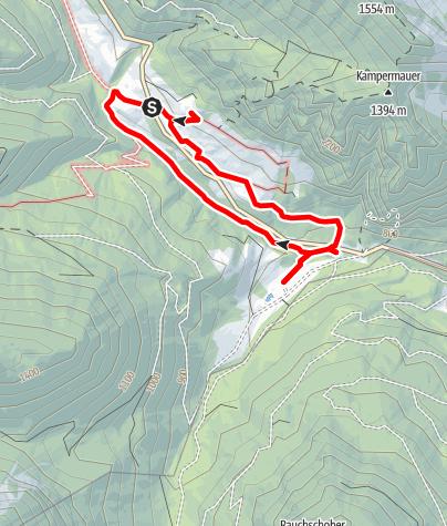 Karte / Erlebnisweg Von Alm zu Alm (Hengstpaß )