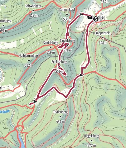 Karte / Pfälzer Rundwanderung mit Einkehr - Nothweiler Vetters Scheune