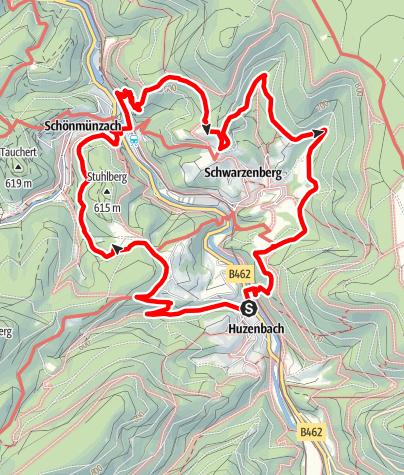 Map / Genießerpfad - Baiersbronner Panoramasteig
