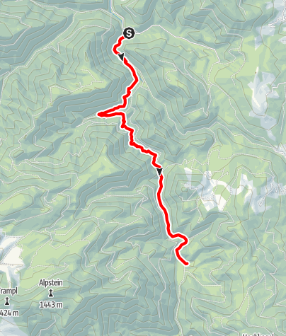 Karte / Wildnistrail Buchensteig (Reichraminger Hintergebirge)