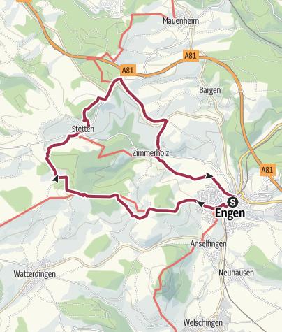 Map / Von Engen zum Hegaublick