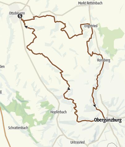 Karte / Ottobeuren/Ronsberg/Obergünzburg/Ottobeuren